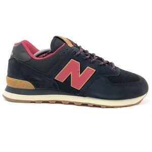 New Balance 574 Classic Black Red Shoes ML5740TD